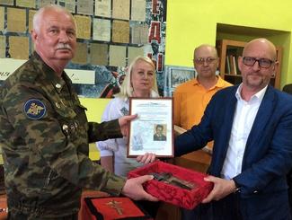 В Тихвине состоялась передача останков младшего лейтенанта Михаила Константиновича Четыркина