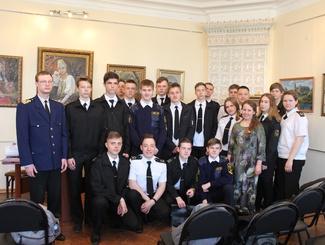 Поисковики встретились со студентами речного училища города Нижнего Новгорода