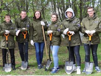 Поисковый отряд «Стикс» провел акцию «Солдатский лес»