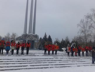Поисковики Курской приняли участие в акции, приуроченной ко Дню Неизвестного солдата