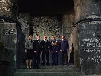 Владимир Путин осмотрел панораму «Битва за Берлин. Подвиг знаменосцев»