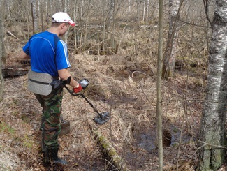 Участники поисковой экспедиции  в окрестностях урочища Гайтолово нашли останки четверых красноармейцев