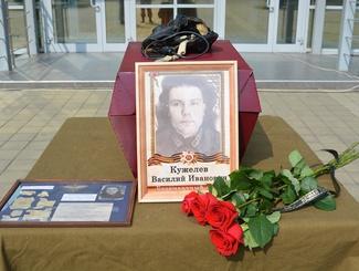 В Краснодаре передали останки летчика Василия Ивановича Кужелева для захоронения на родине