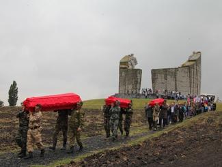 Церемония прощания с 37 солдатами и командирами Красной Армии состоялась в Ростовской области