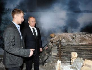 Президент России посетил выставку-панораму «Прорыв»