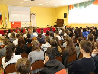 """Cемь Урок мужества """"Мы этой памяти верны"""" провели асраханские поисковики для школьников Лицея № 2 города Астрахани"""