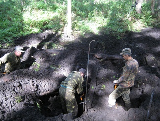 Брянские поисковики обнаружили место падения самолета ИЛ-2