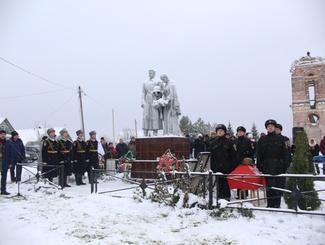 Торжественная церемония захоронения защитников Отечества прошла в Рузском районе Московской области