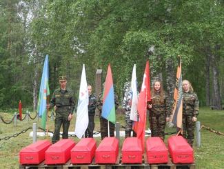 Церемония предания земле 28 советских воинов состоялась   в Республике Карелия