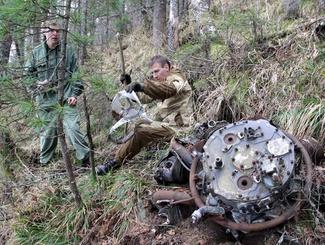 Поисковики обнаружили вещи летчика, погибшего во время тренировочного полета в 1944-ом