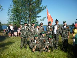 Алтайские поисковики на «Вахте памяти-2014» в Карелии.