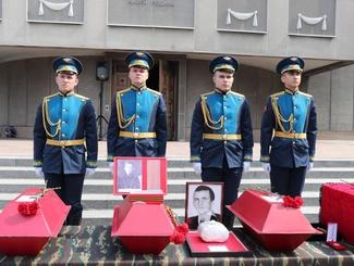 В Красноярском крае прошла церемония передачи останков красноармейцев
