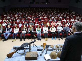 Астраханские поисковики провели Уроки мужества в школах Лиманского района Астраханской области