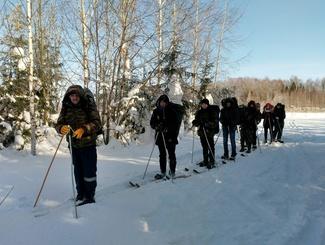 Четырехдневный поход, посвященный лыжному рейду в «Демянском котле», совершили кировские поисковики