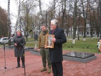 Церемония передачи останков лейтенанта Василия Елисеенко  родным состоялась в Курской области