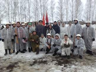 Рязанские поисковики приняли участие в исторической реконструкции, посвященной Дню защитника Отечества