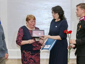 Церемония передачи медали «За отвагу» красноармейца Савелия Якушко прошла в Новосибирске