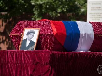 В Тюмени проводили в последний путь красноармейца Дмитрия Михайловича Ерилова