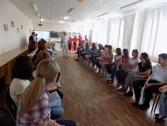 Оренбургские поисковики провели интерактивную площадку для первокурсников ОГПУ