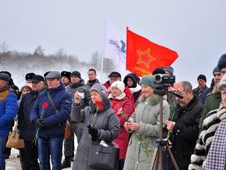 Торжественное открытие мемориальных плит с именами 98 солдат в Вологодской области