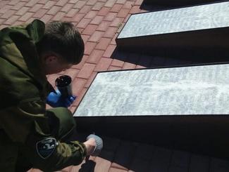 Тамбовские и липецкие поисковики провели реставрацию памятника на высоте «Огурец»