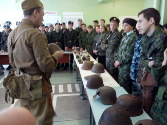 Башкирские поисковики провели выставку для участников военно-спортивных соревнований