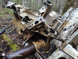 Костромские поисковики отряда «Экипаж» установили в Солигаличском районе место падения самолета B-25 Mitchell.