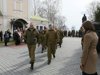 Торжественная церемония отправки поисковиков в экспедиции состоялась во Владимире