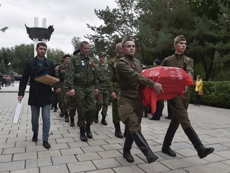 Церемония передачи останков красноармейца Павла Ивановича Пухлякова состоялась в Оренбургской области