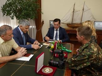 Астраханские активисты «Поискового движения России» встретились с губернатором региона Александром Жилкиным