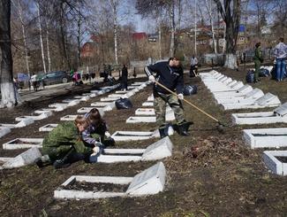 Пензенские поисковики привели в порядок 136 воинских захоронений
