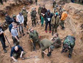 Поисковики Татарстана и Ленинградской области проводят экспедицию под Выборгом