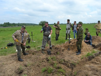 Поисковики нашли останки четырех солдат и командиров Красной армии в Брянской области