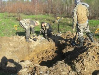 Останки 19 красноармейцев обнаружены московскими поисковиками в Тверской области