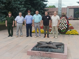 Торжественная церемония передачи останков Гусева Василия Васильевича для захоронения на Родине