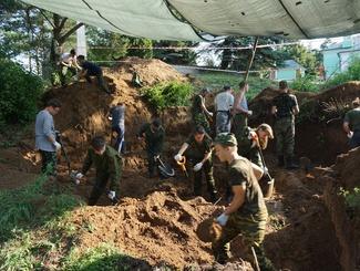 Поисковики Подмосковья провели экспедицию в селе Троицкое на месте вновь выявленного массового воинского захоронения