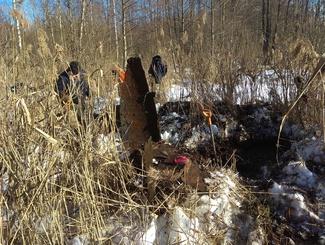 Место падения штурмовика Ил-2 обследовали поисковики Московской области