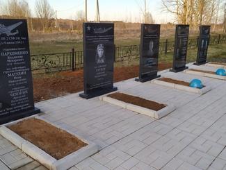 Мемориальная группа «Долины» привела в порядок два воинских захоронения в Демянском районе