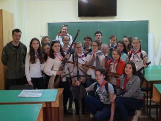 Поисковики Марий Эл рассказали о своей работе активистам Российского движения школьников