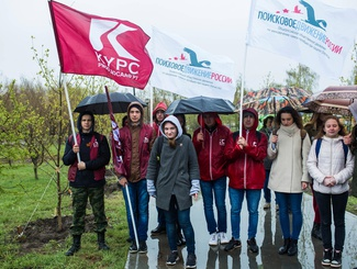 В Татарстане при участии поисковиков прошла акция «Аллея Памяти»