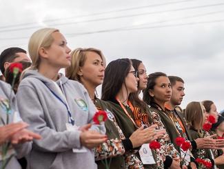 Тюменские поисковики приняли участие в акции «Свеча памяти»