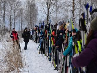26-й лыжный поход отряда «Ингрия» по местам боевой славы Ленинградского и Волховского фронтов